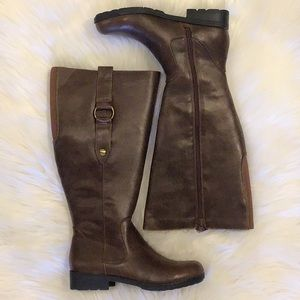 New Life Stride Unity Brown Wide Calf Boot